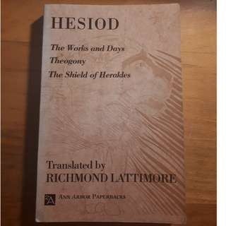 Hesiod tra. by Richard Lattimore
