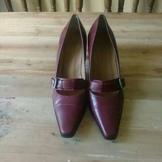 Repriced! Cole Haan burgundy shoes
