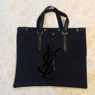 YSL 經典黑色帆布包