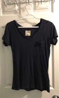 Hollister v-neck tee with pocket