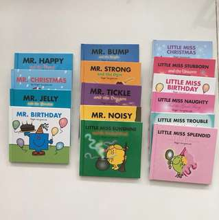 15 hardcover Mr Men & Little Miss books