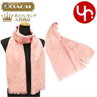 Coach 粉色圍巾+短銀包+大化妝袋+匙扣
