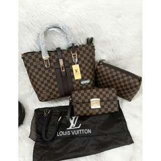 NEW Tas LV Tote Bag 3in1