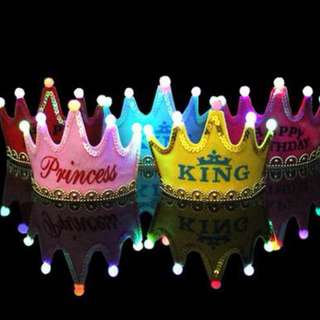 High Crown For Birthday Party with light  Ready Stock