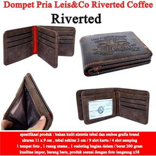 Dompet Cowok Leis&Co Kulit revirted coffee
