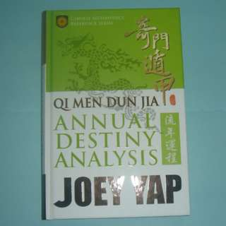 Joey Yap Qi Men Dun Jia Annual Destiny bazi fengshui book