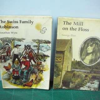 珍藏古舊英文小說 The Swiss Family Robinson + The Mill on the Floss
