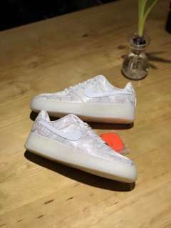 clot x Nike Air force 1 premium白丝绸