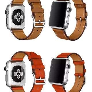 Apple watch 皮革款表帶 (官方款式)