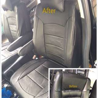 Oddyssey leather seat cover