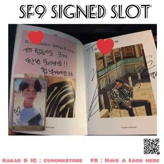 SF9 SIGNED SLOT