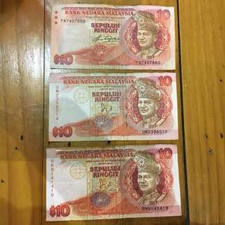 Duit Kertas Lama RM 10