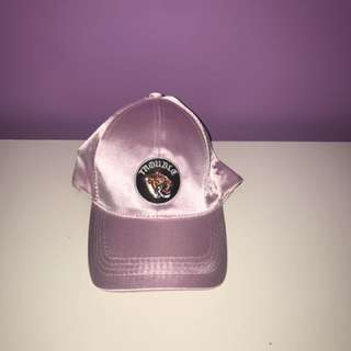 Pink velour hat