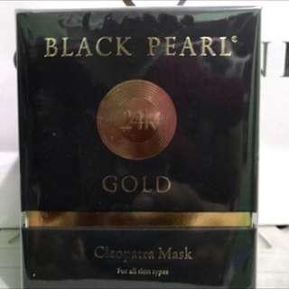 24K GOLD  BLACK PEARL CLEOPATRA MASK