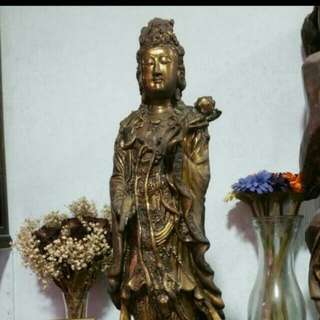 Guan yin old pc high about 16 to 17 inc