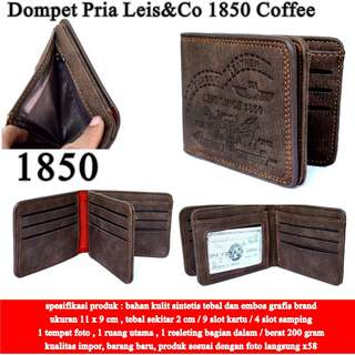 Dompet Cowok Leis&Co Kulit 1850 coffee