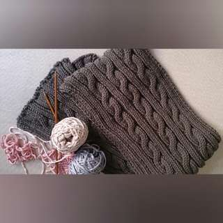 Korean style thick wool handmade knitted scarf
