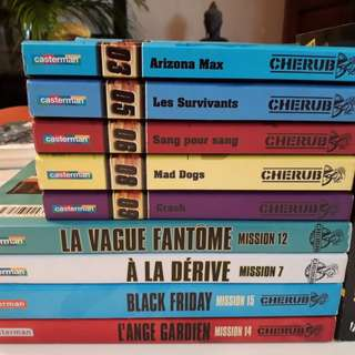 Cherub collection of 9 books (French) + 1 (English)