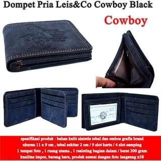 Dompet Cowok Leis&Co Kulit  cowboy black