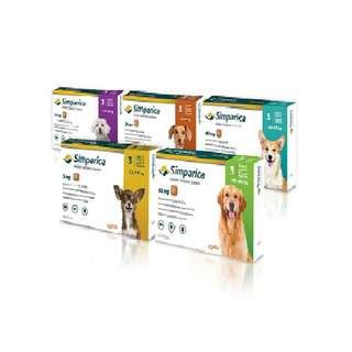 Simparica Chewable Tablets For Flea & Tick Prevention in Dogs