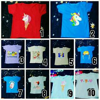 Tops for Kids 3-6yrs old bundle