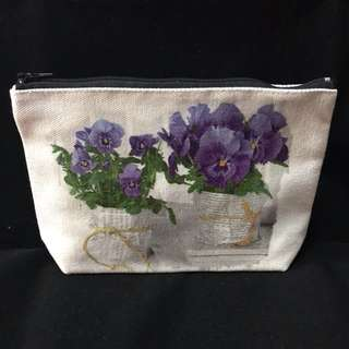 Decoupage Cosmetic Pouch