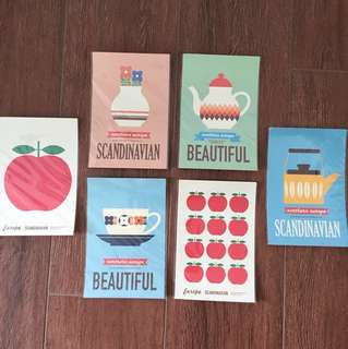 scandinavian design postcards