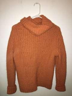 COZY orange sweater!