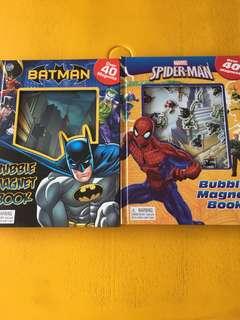Batman/Spider-Man bubble magnet book