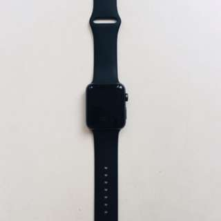 Apple Watch series 2 42mm black aluminium case sport band