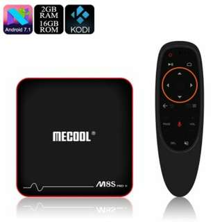 MECOOL M8S Pro W TV Box - Android 7.1, Quad Core CPU, 2GB RAM, Kodi, Miracast, Airplay, 16GB Memory, Micro SD slot (CVAHE-E860-16GB)