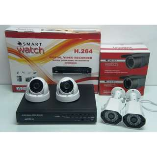 CCTV 1080P HD with 1TR Storage (2 Indoor and 2 outdoor)