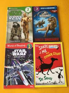 Assortment of books - Star Wars, Jurassic World, Dr. Seuss