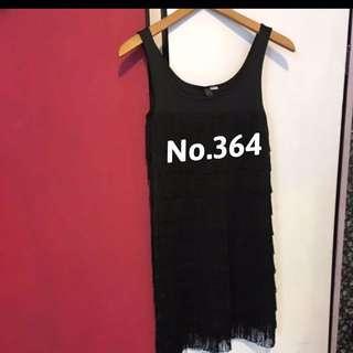 🚚 全新黑色流蘇小洋裝 品牌百貨 服飾No. 364