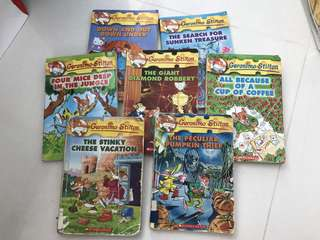 7 Geronimo Stilton books