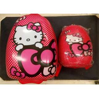 A Set of 2 Luggage and Backpack (Hello Kitty)