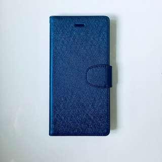 [全新] iPhone 6 plus/ 6s plus 電話寶藍色皮套 軟膠殻 可放卡 [附送透明螢幕保護貼]