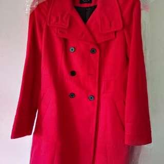 Zara Coat Asli Merah S