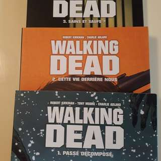 Walking dead (French) - Series of 3 books