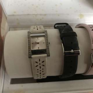 Guess watch with straps