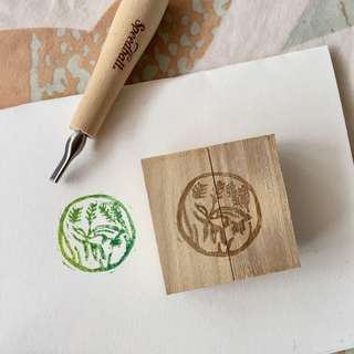 hand carved rubber stamp 💦🐠