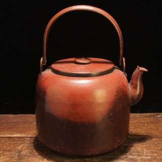 古銅腰黑銅壺水注