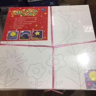 Kids canvas art set