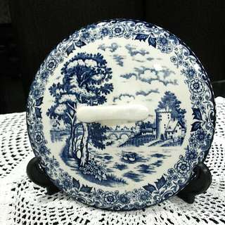 "9.5"" Blue & White Transferware"