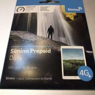 冰島 Siminn 10G 上網咭 sim card