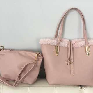 Pink ghos tote bag