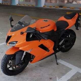 Kawasaki ZX-6R 2008 model low mileage  renew coe till 2028