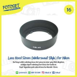 Lens Hood 52mm (Wintersweet Style) for Nikon