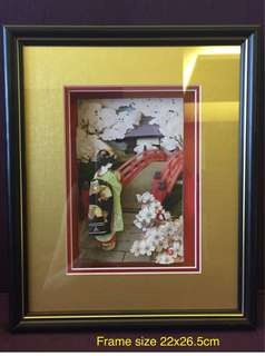 Handmade 3D Paper Tole Picture with Frame