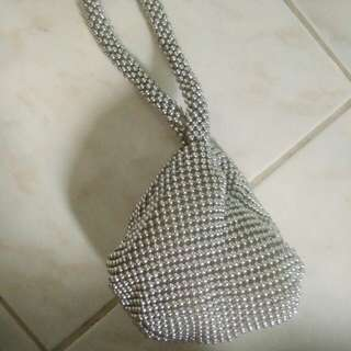 SMALL SILVER BAG/ POUCH